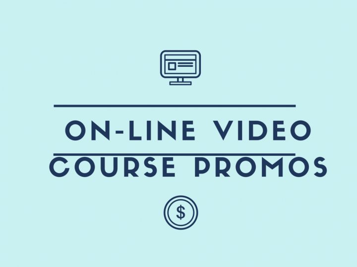 On-line video course promotions