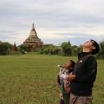 Flying in Bagan Myanmar