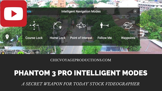 Phantom 3 Pro intelligent modes make this drone a secret weapon for today' stock videographer