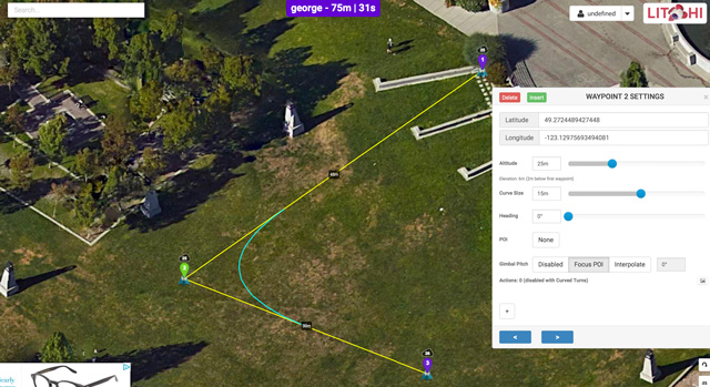 automated flying and filming with your drone