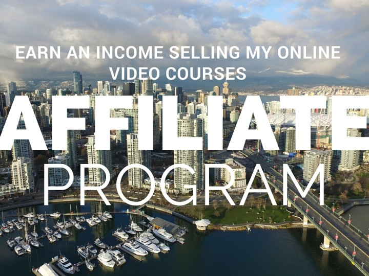 Earn an income selling my online video courses – Affiliate program