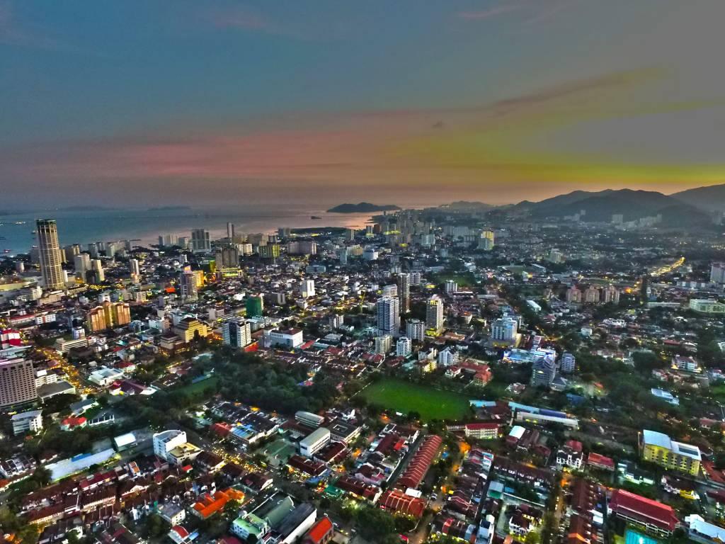 aerial photo penang