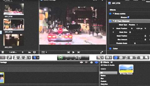 final cut pro x blur out a moving object