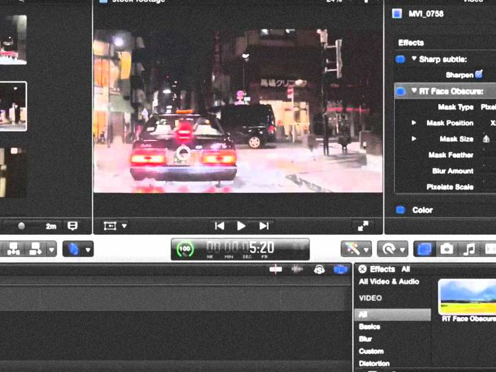 FCPX – How to blur or censor out a moving object course