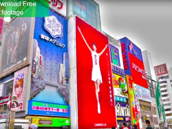 FREE Osaka Japan Stock Footage