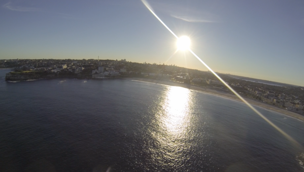 Quadcopter and Gopro out to sea