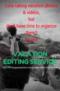 Vacation editing service