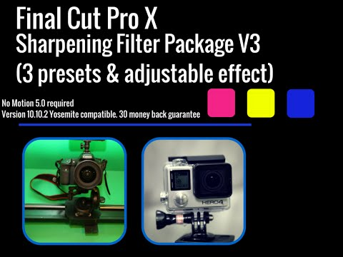 Final Cut Pro X Sharpening Plug in