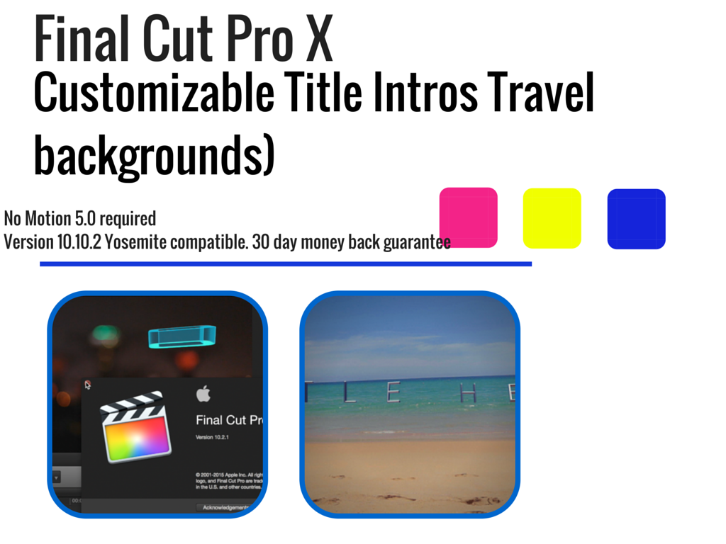 Final Cut Pro X Customizable Title Intros