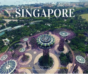 Singapore 4k aerial video
