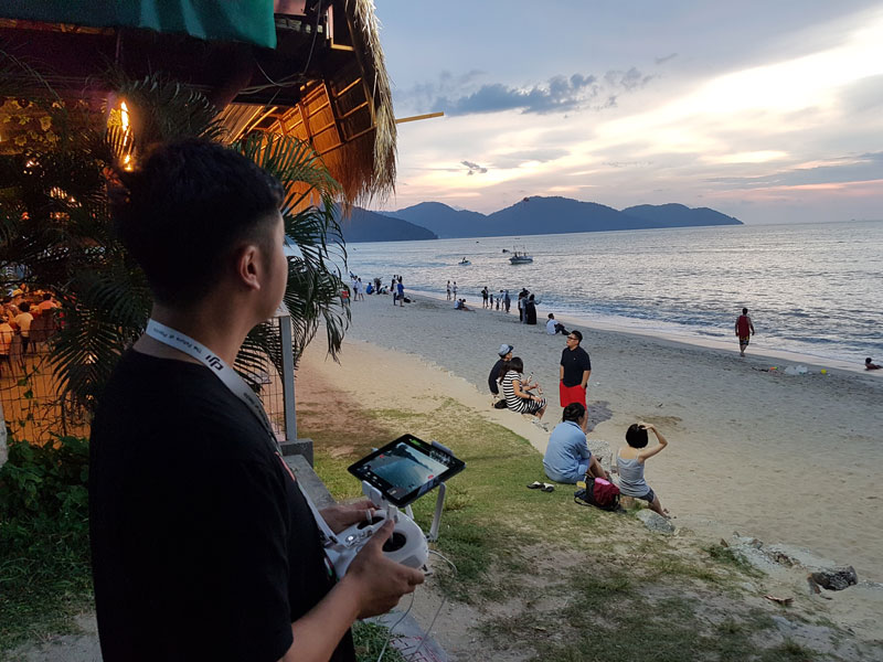 filming 4K Footage in Batu Ferringhi in Penang