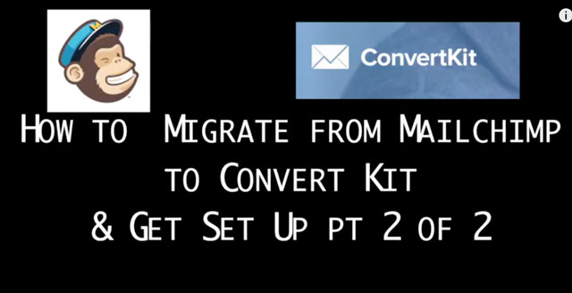 How to migrate from Mailchimp to Convert Kit