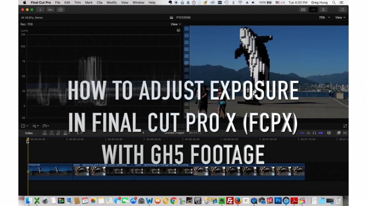 How to adjust exposure with final cut pro x