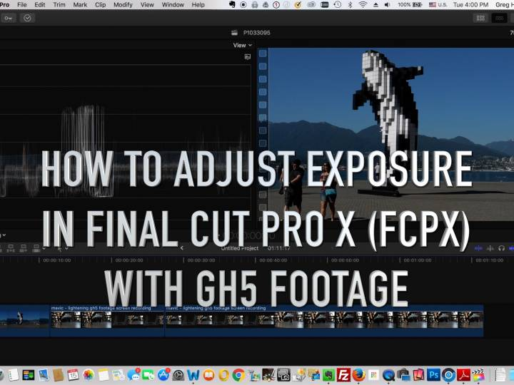 Final Cut Pro X – How to adjust Exposure using Panasonic GH5 Footage