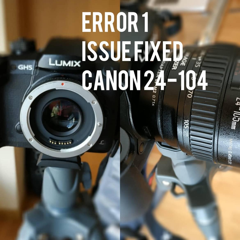 How to Fix the Err1 Error 1 Canon 24-105 Lems Communication Problem
