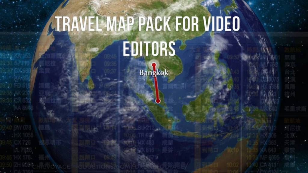 Travel Map Background