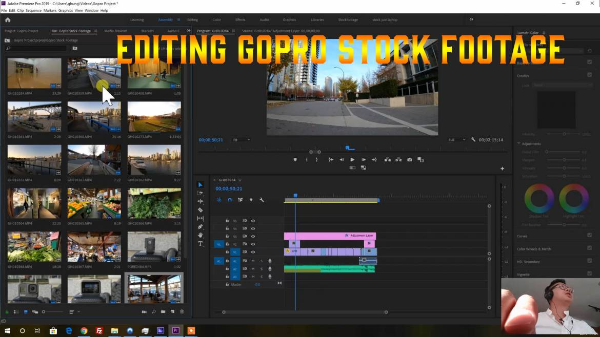 Editing Gopro Footage