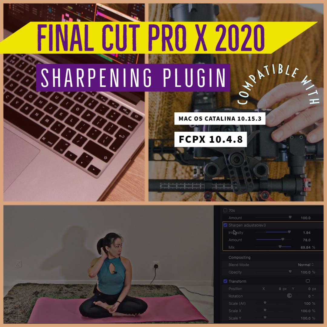 how to sharpen final cut pro x 2020
