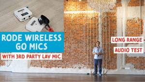 rode wireless go test in a big room