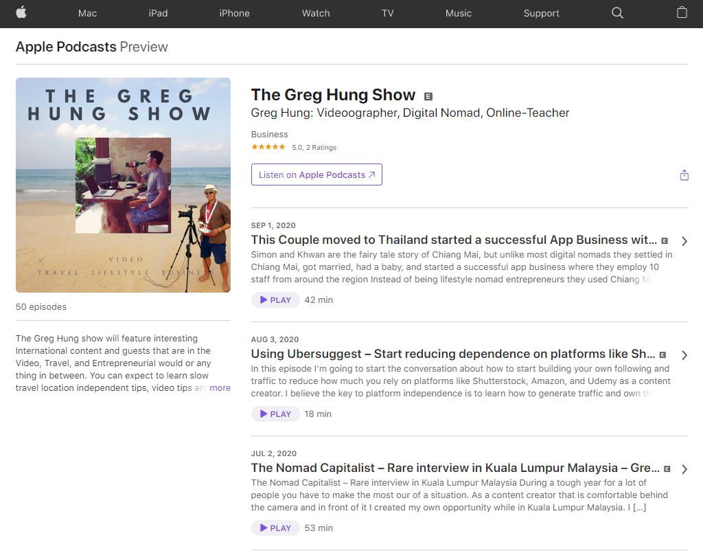 greg hung show podcast