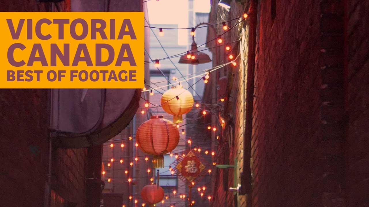 Victoria BC Canada Stock Footage