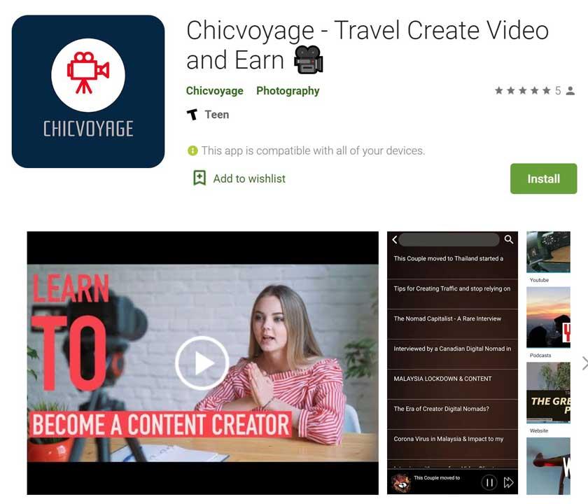 chicvoyage app