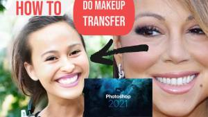 Photoshop 2021 neural filters makeup transfer