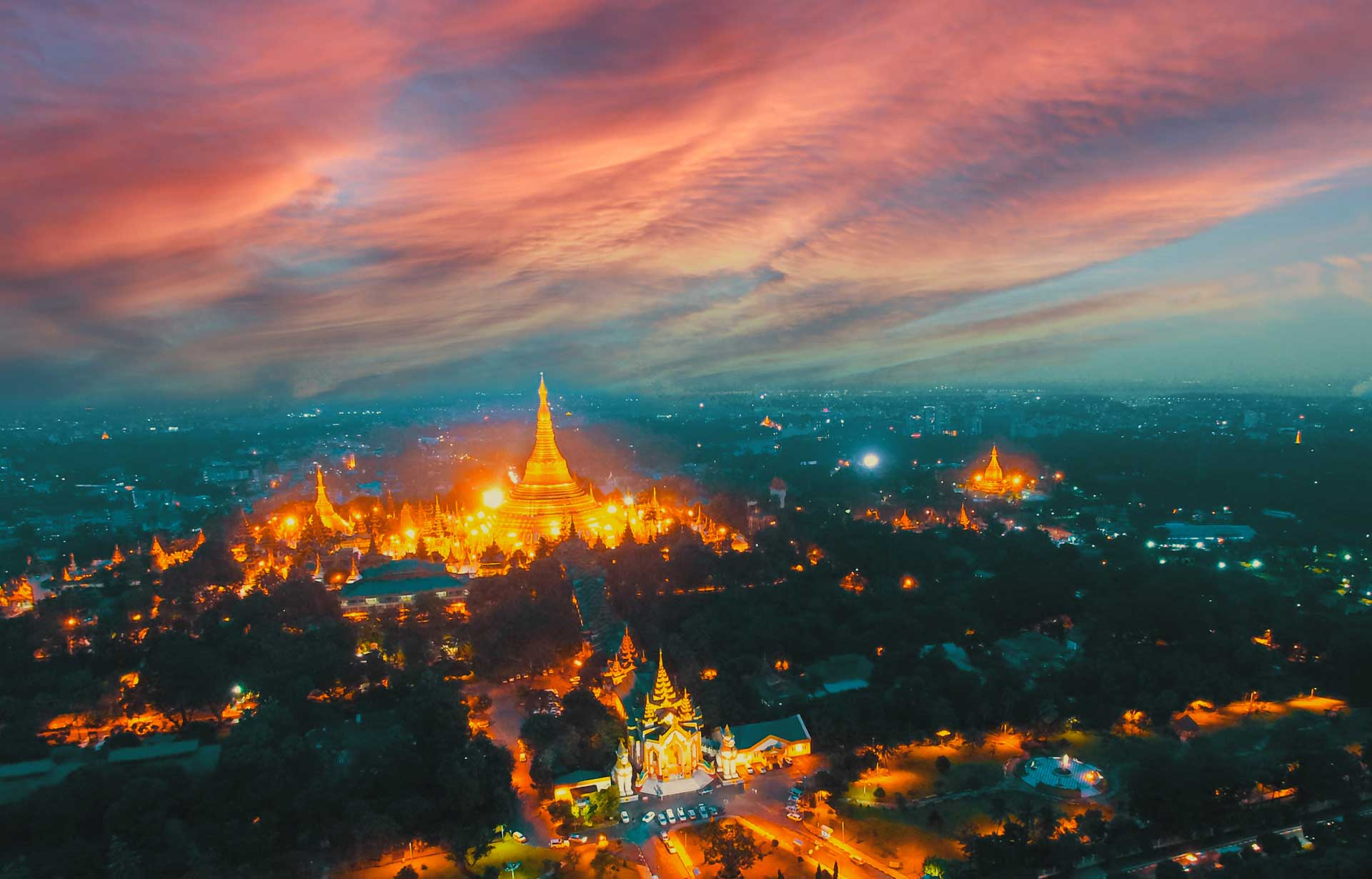 aerial photography myanmar