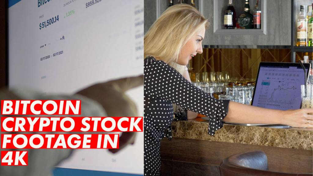bitcoin stock footage 4k